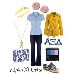 Alpha Xi Delta, created by deltagammacj on Polyvore