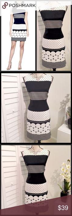 ✨NWT✨Cute Sleeveless Black & White Sheath Dress🖤 ✨NWT✨ Cute Sleeveless Black & White Sheath Mini Dress🖤 Dresses Mini