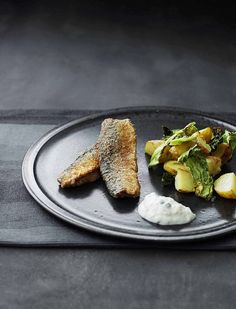Fried Herring with Savoy Cabbage (Served with chive crème and potatoes)