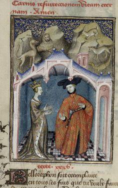 Queen's Book, fol. 111v. Bellorophon.
