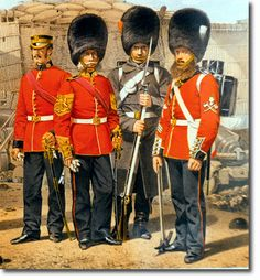 British Empire: Armed Forces: Uniforms: British Infantry: The Coldstream Guards