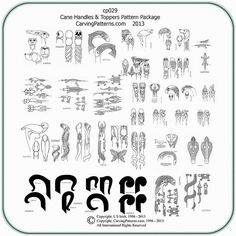 Image result for Free Wood Patterns for Carving Walking Sticks