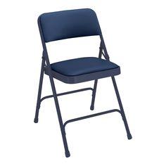 National Public Seating 1200 Premium Vinyl Folding Chair (Set of 4) | ATG Stores
