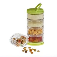 All-in-One Storage Solution for Moms On-the-Go! A must have diaper bag essential to store, dispense and organize formula, snacks, pacifiers and more in one convenient unit.