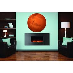 Full Color Mars Full Color Decal, Planet Mars Full color sticker, wall art Sticker Decal size 22x22