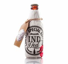 IndHED Craft Beer Limited Edition :: Package Design by Industria , via Behance Food Packaging Design, Bottle Packaging, Packaging Design Inspiration, Branding Design, Artisan Beer, Oh Beautiful, Beer Brands, Bottle Design, Craft Beer