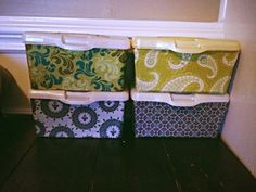 Latest Pinterest project: covered wipes containers for storage Storage Organization, Storage Ideas, Organizing, Baby Wipes Container, Recycling Projects, Diy Projects, Pinterest Projects, Getting Organized, Repurposed