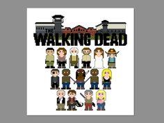 Walking Dead Season 3 Prison Pixel People by CheekySharkLabs