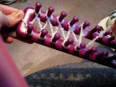 I have two other videos that teach you how to knit with a loom and how to cast off using a loom.