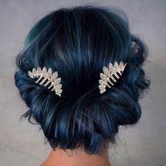 "miss-mandy-m: "" Rhinestone Leaf Crown Hair Combs """