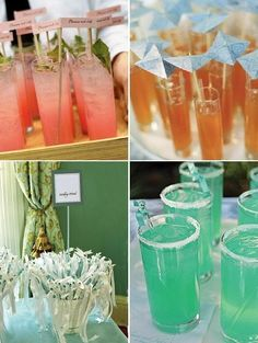signature cocktails named after the Bride n Groom - cute idea for cocktail hour