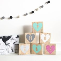 Are you interested in our letter blocks? With our name blocks you need look no further.