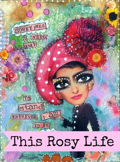 Bright and colourful quote print, 'Sometimes I need only to stand wherever I am' by ThisRosyLife on Etsy