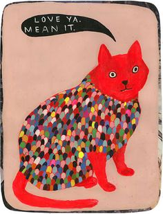 "Illustration by Martha Rich, ""Love Ya. Mean it."""