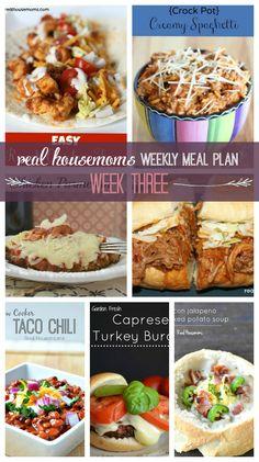 Weekly Meal Plan {Week 3} - Real Housemoms