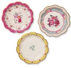 Vibtage shabby chic paper plates