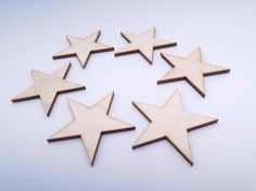 Wooden Stars for Crafts - Laser Cut by AndedSupplies on Etsy