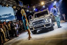"Take a look at the 'Night of the Stars' in Hockenheim/Germany!  G-Class. Fuel consumption combined: 17.0-11.2 l/100 km, CO2 emissions combined: 397-295 (g/km). The data do not relate to an individual vehicle and do not form part of the offer; they are provided solely for the purposes of comparison between different types of vehicles. The figures are provided in accordance with the German regulation ""PKW-EnVKV"" and apply to the German market only."