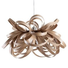 I love bent wood furnishings and accents. Tom Raffield: Butterfly Pendant Oak, at off! Butterfly Lighting, Butterfly Pendant, Butterfly Lamp, Wood Chandelier, Wood Lamps, Chandeliers, Lounge Lighting, Home Lighting, Interior Lighting