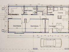 Taringa! Hice mi casa en Steel Framing y quiero compartirlo Steel Framing, Garage Apartments, Floor Plans, Diagram, Exterior, Apartment Ideas, Container Houses, Prefab Homes, Home Plans