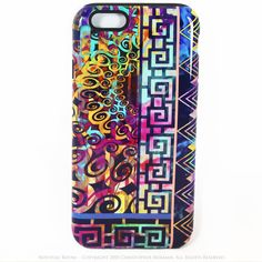Abstract iPhone 6 6s TOUGH Case - Nouveau Boom - Colorful Modern Art -  Dual Layer Case by Da Vinci Case