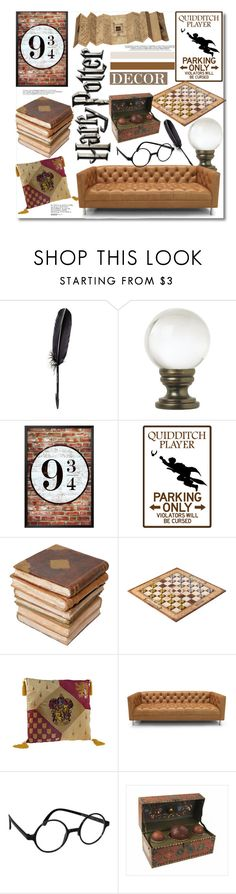 """Harry Potter Decor"" by kusja ❤ liked on Polyvore featuring interior, interiors, interior design, home, home decor, interior decorating, Maison Margiela, Universal Lighting and Decor, Ceramiche Pugi and Jonathan Adler"