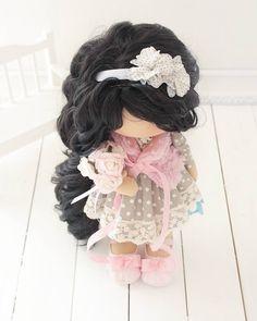 Девочка 44 см #интерьернаякукла #кукла#ручнаяработа #шитье#хобби#моялюбовь #моевдохновение#коллекционнаякукла