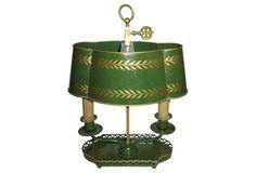 French Tole Bouillotte Desk Lamp C.1940