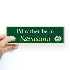 Savasana Sticker (Bumper)