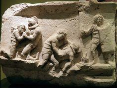 Gladiator : Retiarius vs secutor- Burdur Museum - Turquey