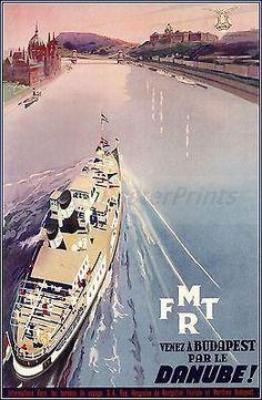 Budapest • Hungary 1933 _________________________ #Vintage #Travel #Poster