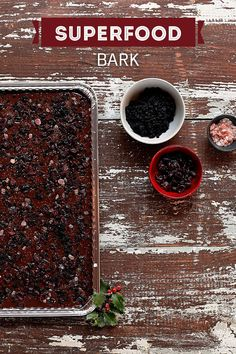 Melt dark chocolate and top with dried blueberries, dried cranberries and a sprinkle of pink Himalayan salt. Make sure to use Reynolds® Parchment Paper to line your pan!