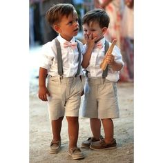 Ring bearer outfit idea! Shorts would be a great idea for the littles