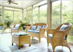 Sunroom design ideas I'd like to have on my house.