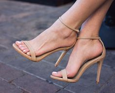 Love these nude strappy sandals by Steve Madden. Look a lot like the Stuart Weitzman ones but only $79!