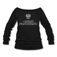 Polish Superwoman Sweater (*Silber Glitzer*) - Frauen Pullover mit U-Boot-Ausschnitt von Bella