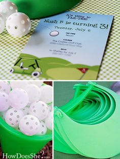 Find the best mini golf Party Decorations! Do you need decorations ideas for your mini golf party? Here are some cool mini golf party decoration ideas. Golf Party Decorations, Kids Party Themes, Party Ideas, Golf Party Favors, Fun Ideas, Thema Golf, Party Fiesta, 2nd Birthday Parties, Birthday Ideas