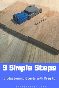 Edge joining boards with kreg jig is just a super simple process. 9 simple steps and your ready to move onto the next aspect of the project. Carpentry Tools, Woodworking Projects, Kreg Jig, Using A Router, Router Projects, Wood Flag, Pocket Hole Screws, Live Edge Table, Wood Clocks