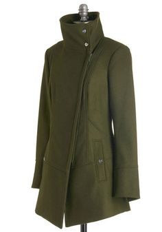 Diagonal Alley Coat in Olive | Mod Retro Vintage Coats | ModCloth.com