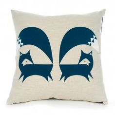French Navy Fox Cushion