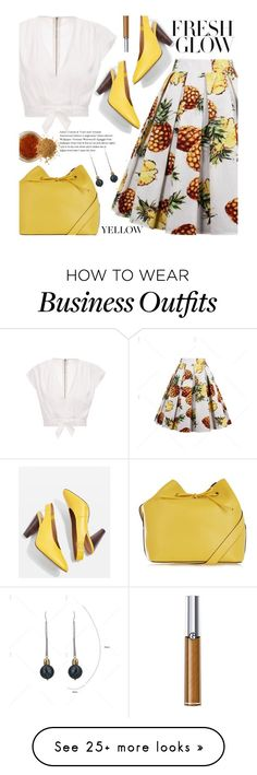 """""""Summer Work Wear: Pineapple Print"""" by beebeely-look on Polyvore featuring Topshop, EARTH TU FACE, Giorgio Armani, vintage, WorkWear, pineapple, streetwear, officestyle and twinkledeals"""