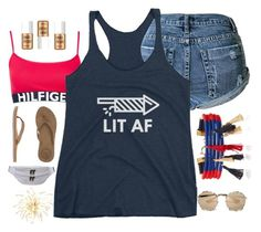 """""""Untitled #19"""" by sarahszejn on Polyvore featuring Topshop, Isabel Marant, Prada, Benefit, Reef and AmeriLeather"""