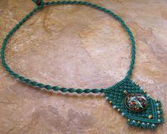 Amulet Tree of Life Green Hemp Necklace by Jenstylehemp on Etsy