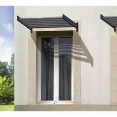 Wall mounted pergola aluminum pvc fabric sliding - Porches leroy merlin ...