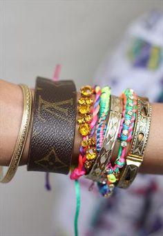 Louis Vuitton Monogram Leather Cuff Bracelet £30.00