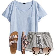 A fashion look from June 2016 featuring H&M t-shirts, H&M shorts and TravelSmith sandals. Browse and shop related looks.
