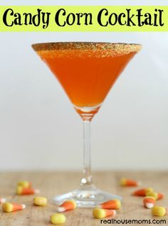 Candy Corn Cocktail is a sweet, yummy, and festive drink that is perfect for fall and Halloween parties! Fall Cocktails, Fall Drinks, Holiday Drinks, Party Drinks, Cocktail Drinks, Vodka Cocktails, Mixed Drinks, Alcoholic Beverages, Cocktail Shaker
