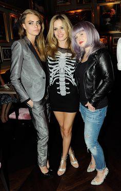 Cara Delevingne, Georgia May Jagger and Kelly Osborne