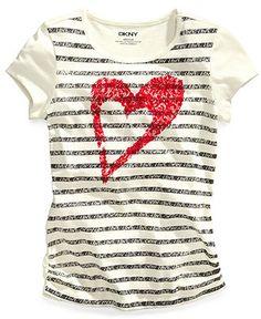 DKNY Kids T-Shirt, Girls Graphic Tee - Kids Girls 7-16 - Macy's