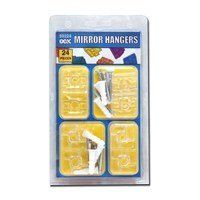 Frameless Mirror Clip Kit, 24 Pc by OOK. $7.32. Includes (4) clear corner clips with (4) screws and (4) white anchors, (4) clear side clips with (4) screws and (4) white anchors.